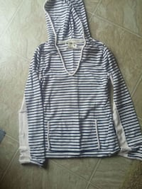 black and white striped pullover hoodie Westbank, V4T 2H2