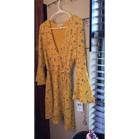 Women's mustard and navy floral dress Church Point, 70525