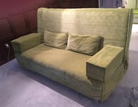 Gray suede sectional sofa with throw pillows Richmond Hill, L4B