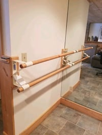 Barre Ballet Double Wall Mounted Bars