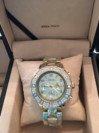 """Woman """"Emporio"""" watch with stones"""