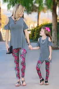 Mommy and Me Pink Vine Leggings from MomMe And More Jacksonville