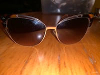 CAT EYE BROWN AND GOLD SUNGLASSES Toronto, M6P 2T3