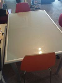 white and red wooden table Calgary, T3K 5W8