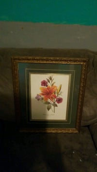 red lily and assorted flowers painting with brown  Huntington, 25704