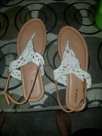 pair of brown leather thong sandals Chino