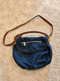 blue and brown shoulder bag Rocky View No. 44
