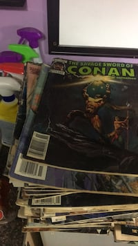Conan the barbarian old comics about 200 of them from the 80s