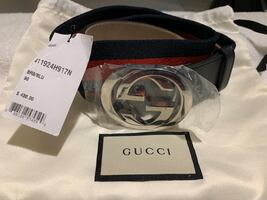 Gucci Logo Buckle Interlock Belt (Mens)