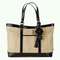 Cole Hann: Serena Jitney Straw Tote - Paid $225, Asking $60!! Mint Condition