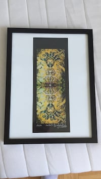 yellow and green flower painting with black wooden frame Toronto, M9B