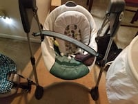 baby's white and gray swing chair null