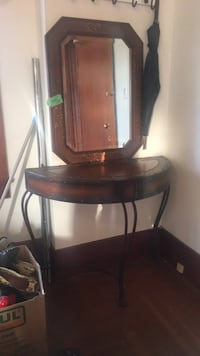 brown wooden dresser with mirror Vancouver, V5L 2N3