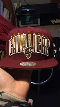 red and yellow Cleveland Cavaliers fitted cap