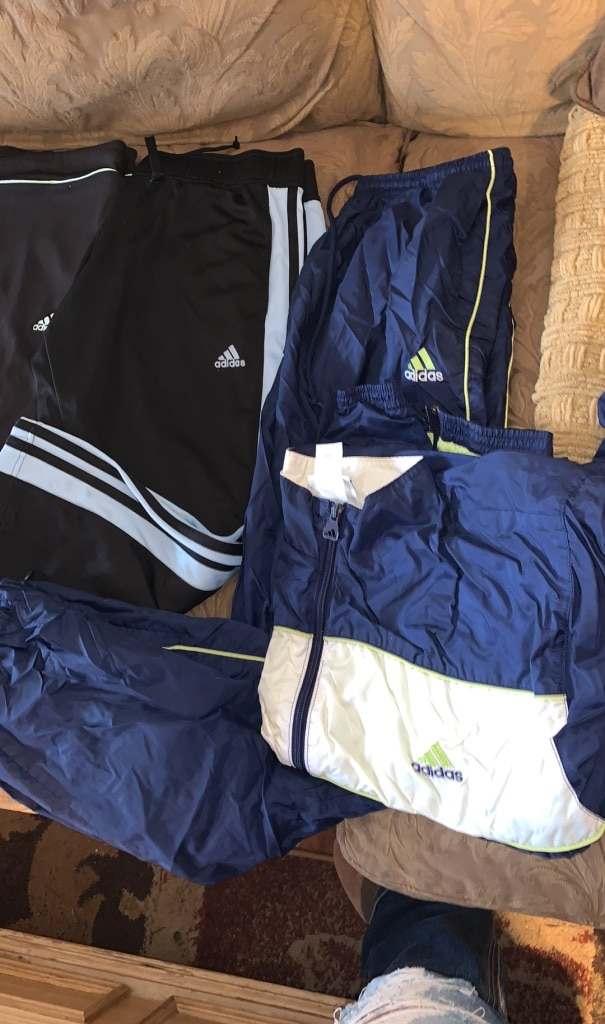Photo Lot of Adidas athletic wear