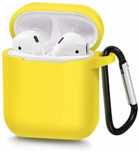 AIRPODS SILICONE CASE WITH HANGING CLIP