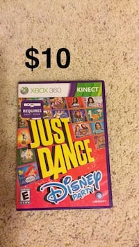 Just Dance Xbox 360 game case