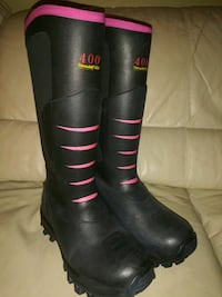 """Sz 7 EXTRA COZY, """"Cusiony"""" Back Pink Boots Portsmouth, 23703"""