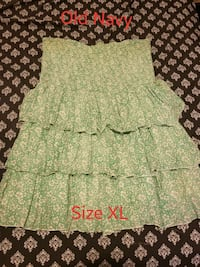 green and white floral strapless dress Austin, 78726