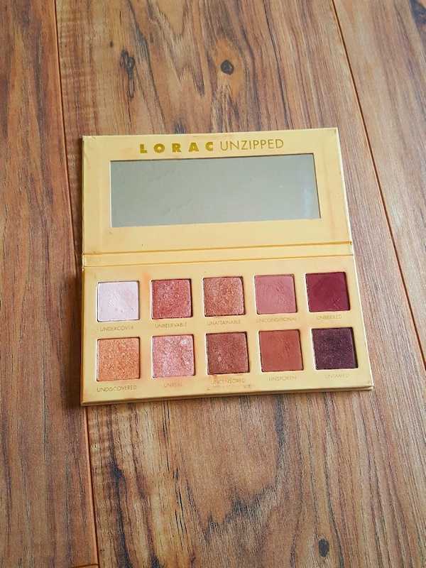 yellow Lorac Unzipped eye shadow palette