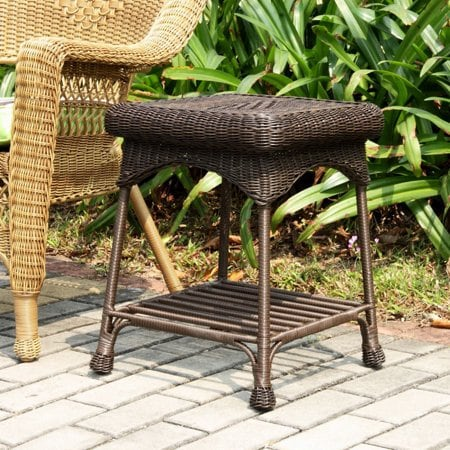"Wicker Patio End Table  17"" X 17"" X 21"""