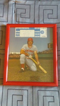 Framed Pete Rose 8x10 Picture Arlington Heights