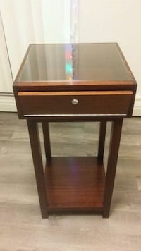 Beautiful Wooden Display Stand With Glass Top~ Edmonton, T5R 5X5