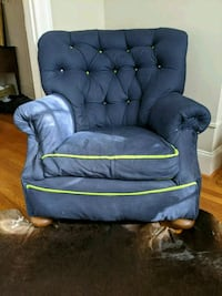 Comfortable Blue Arm Chair