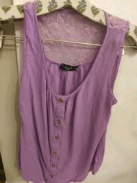 Purple Sleeveless Shirt with lace back small Calgary, T2P 1G4