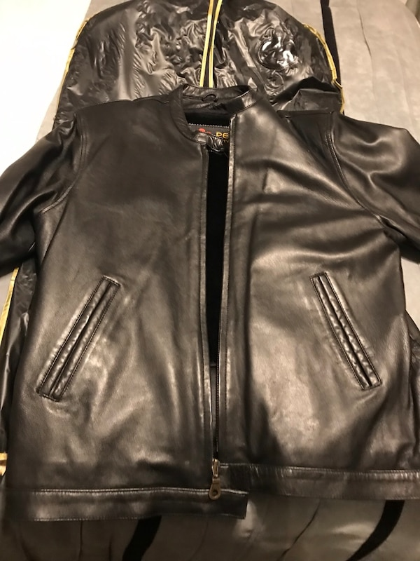 f04f6510c998 Vintage Mens Black Leather Motorcycle Jacket  Size L usado en venta en New  York - letgo