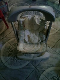 baby's gray and white cradle and swing Brampton, L6Y