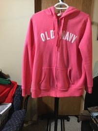 Pink and white old navy zip-up hoodie jacket Calgary, T3G
