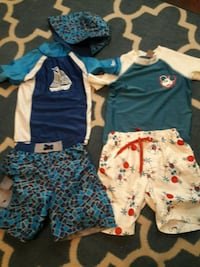 Boys bathingsuit sets size 6 and Small Coconut Creek