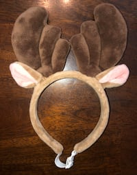 SMALL Size Reindeer Ears Santa Hat Pet Headband Dog Christmas Costume