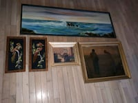 brown wooden framed painting of house Toronto, M1L 3P4