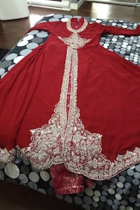 Red and grey floral kaftan dress Toronto, M3C