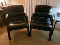 2 Leather and Wood Chairs College Park, 20740