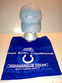 Indianapolis Colts NFL Super Bowl 2007 T shirt and Ladies Cap  London
