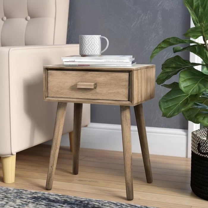 New end table with storage