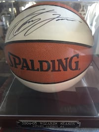 brown and white 2004-05 Wizards Season Spalding basketball signed memorabilia Rockville, 20852