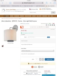 New 2 Alico/Elk lighting  - WF9570 - Forma - One Light Wall Sconce