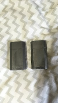 two ronson refillable butane wind resistant lighters. 5 for one, 10 for both