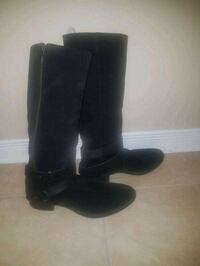 Black suede boots -GEOX - Size 9