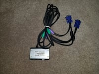 .VGA KVM - With cables & power supply