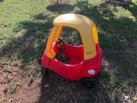 red and yellow Little Tikes cozy coupe Fountain, 80817