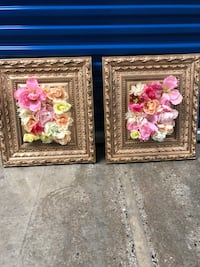 (2) gold framed flower picture  Towson, 21286