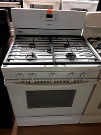 Whirlpool white 5 burner gas stove Woodbridge, 22191