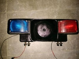 Red and blue. Speaker is located in the middle