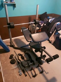 Weight bench with extras