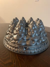 Mountain And Train Setting on Bunt Cake Mold